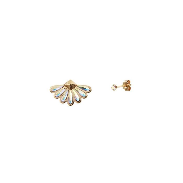 Livraison Gratuite Offres Nouvelle Visite Pas Cher Boucle d'oreille unique dorée crystal ab calypso blanc Caroline Najman | La Redoute Libre Vente D'expédition En Ligne ms8NV