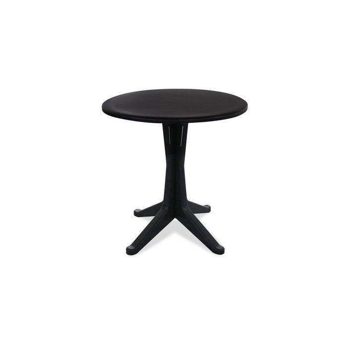Table de jardin ronde en plastique gris Oviala | La Redoute