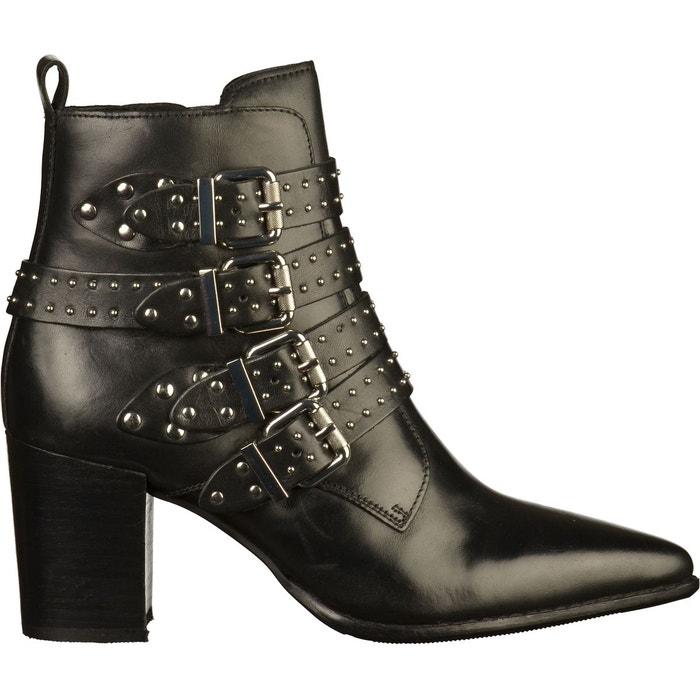 841f90cb0a4 Bottines cuir noir Bronx