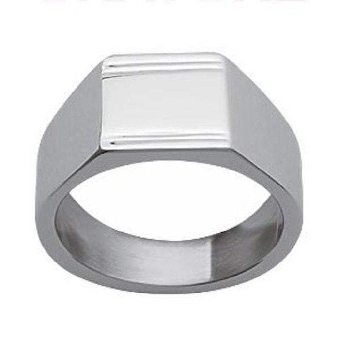Browse Jeu 2018 À Vendre Bague chevalière anneau acier inoxydable couleur unique So Chic Bijoux   La Redoute Dernière Vente En Ligne Vente Trouver Grand H0M9zJZ