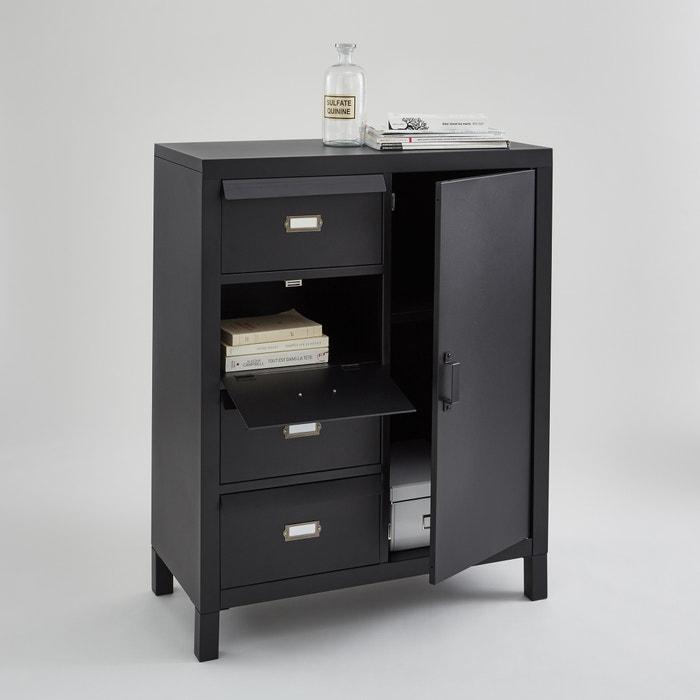 Hiba Style Steel Cabinet Black La Redoute Interieurs