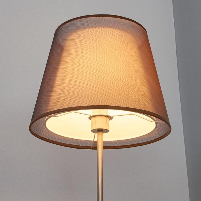 lampadaire weni marron brun blanc nickel mat lampenwelt. Black Bedroom Furniture Sets. Home Design Ideas