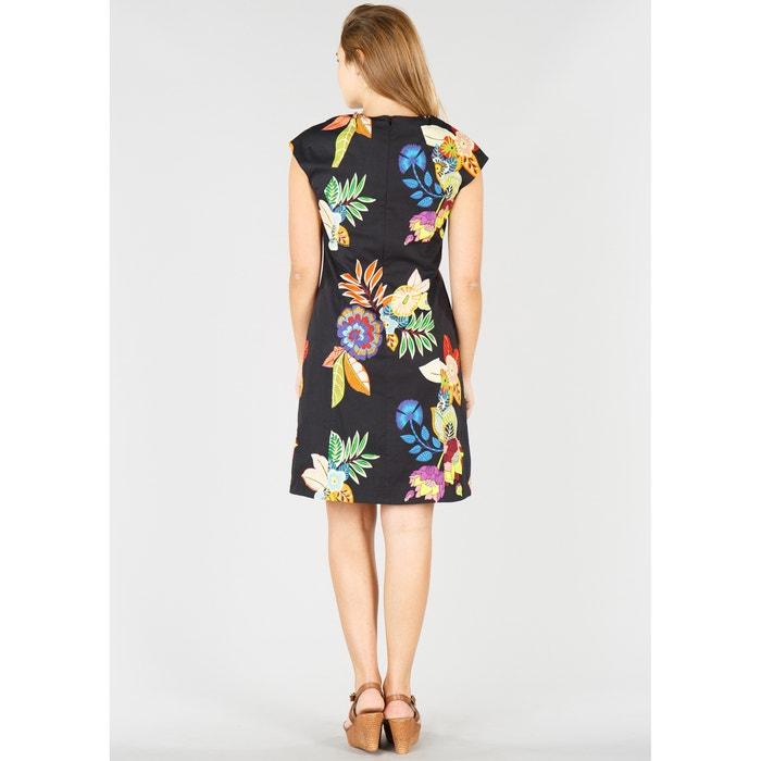 Vestido DERHY floral estampado RENE recto A86Hxq
