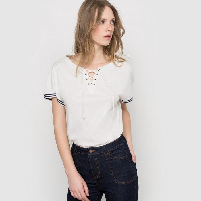 Bild T-Shirt mit Schnürung, uni R essentiel