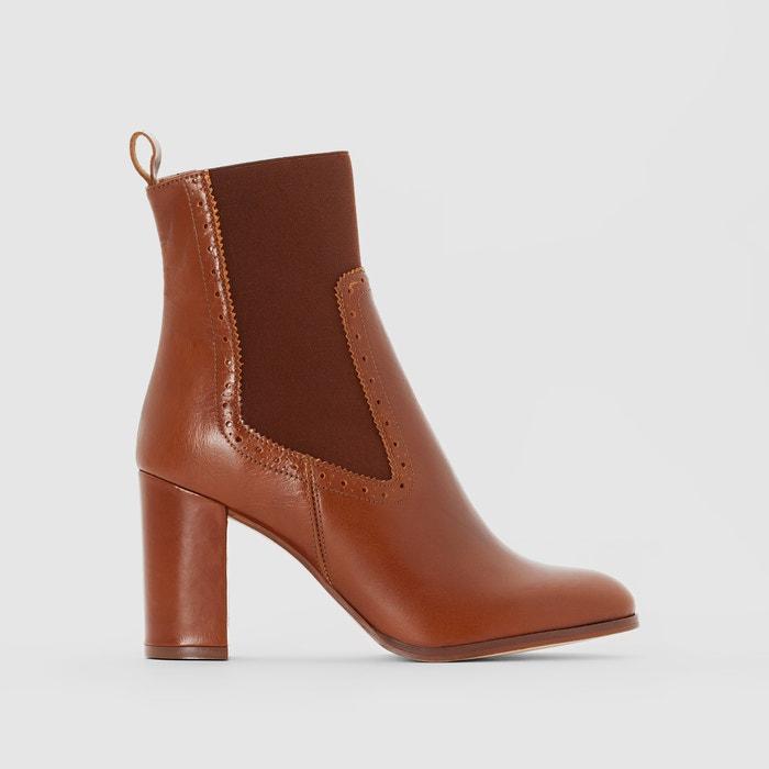 Image Boots cuir à talon Adil JONAK