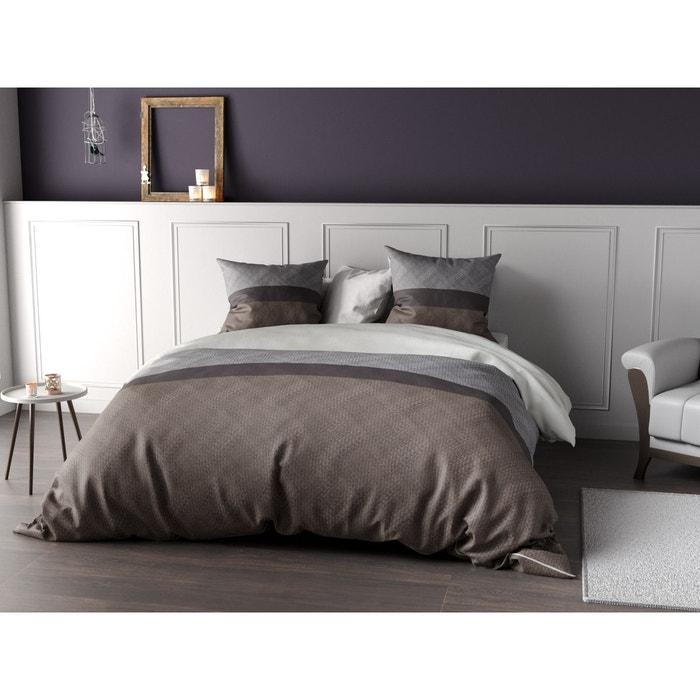 parure de lit percale cocoon taupe c design home textile la redoute. Black Bedroom Furniture Sets. Home Design Ideas