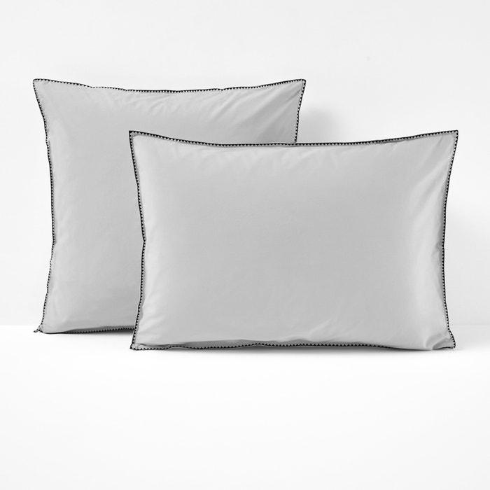 ADRIO Cotton Percale Single Pillowcase  La Redoute Interieurs image 0