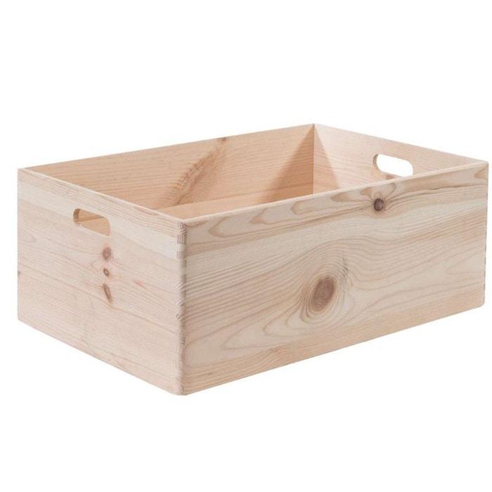 Bo te box en pin naturel taille xl beige compactor - Boite compactor ...