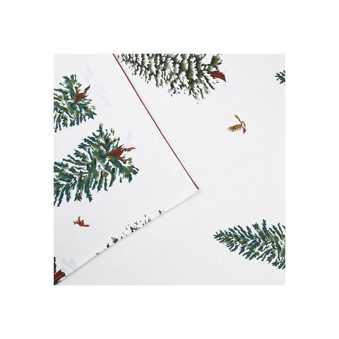 drap plat flanelle snow fox blanc olivier desforges la. Black Bedroom Furniture Sets. Home Design Ideas