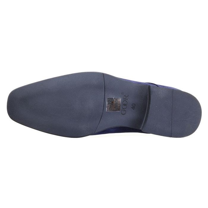 Chaussure derbie à lacets bleu Goor