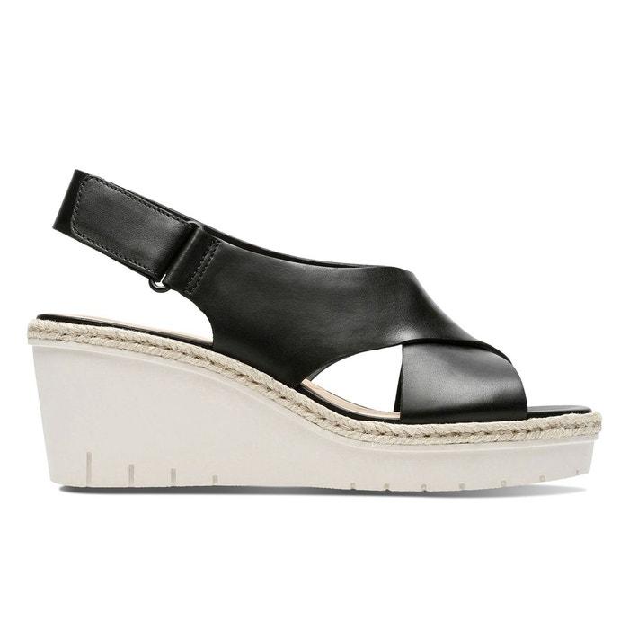 Clarks Palm Glow Noir - Chaussures Sandale Femme