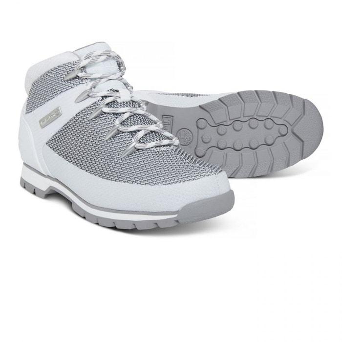 Chaussures euro sprint fabric white e18 blanc Timberland