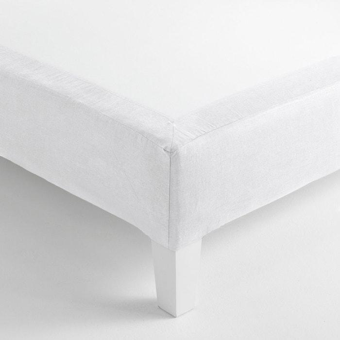 cache sommier forme housse gram lin lav coton am pm la redoute. Black Bedroom Furniture Sets. Home Design Ideas