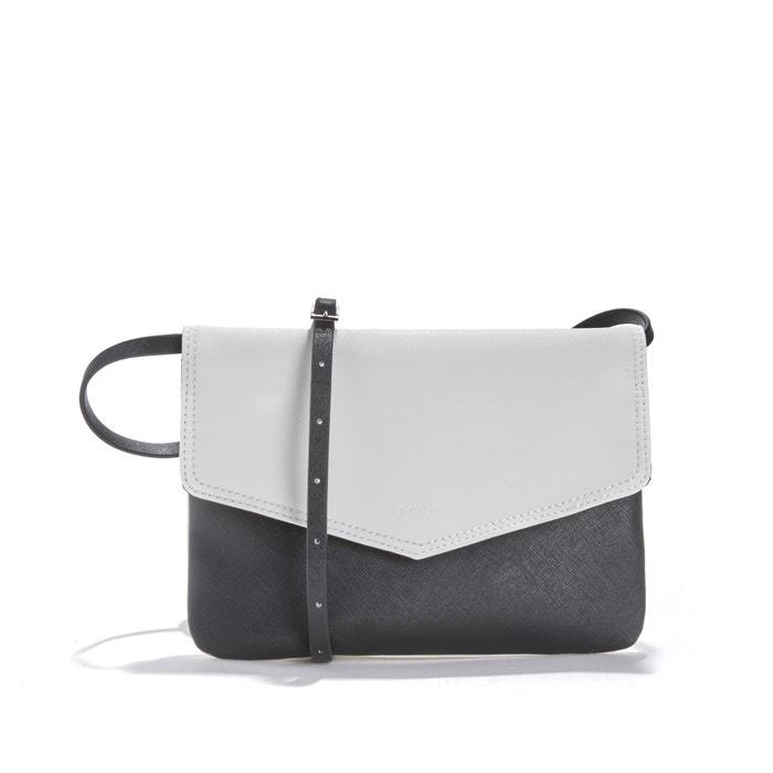 5d686c4c50 Two-tone clutch bag , white + black, Esprit | La Redoute