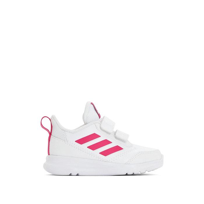 6a30aa024768be Sneakers met klittenband altarun wit/roze Adidas Performance   La Redoute