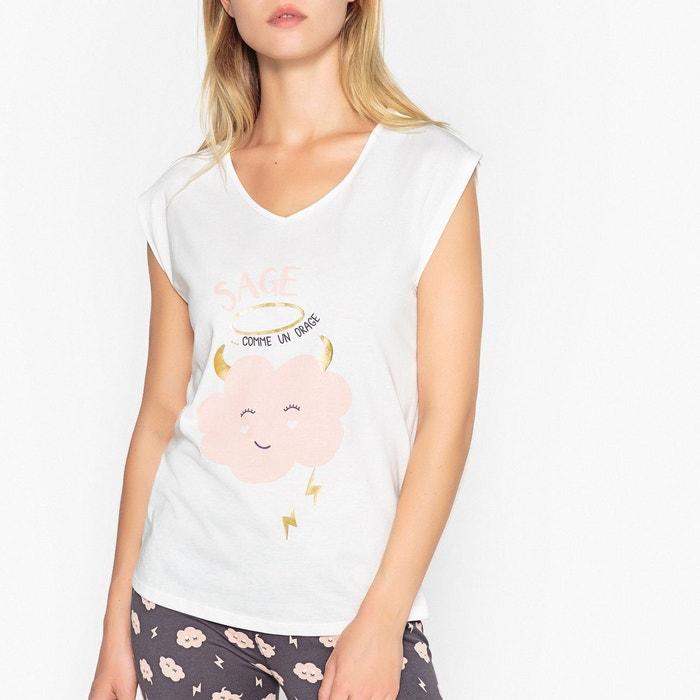 Pyjama en coton, imprimé à message  LA REDOUTE COLLECTIONS image 0