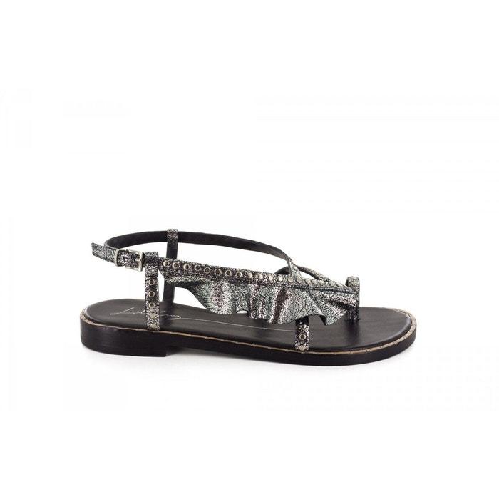 Sandales-lola cruz argenté Lola Cruz