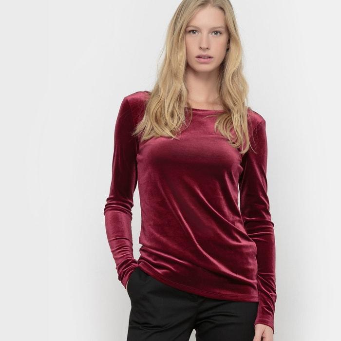 Imagen de Camiseta aterciopelada con amplio escote en la espalda R édition