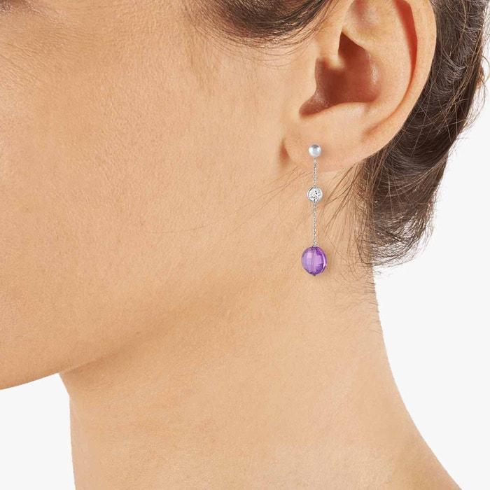 Explorer Sortie Vente Prix Incroyable Boucles d'oreilles or 375/1000 topaze bleu Cleor | La Redoute gfHWiI