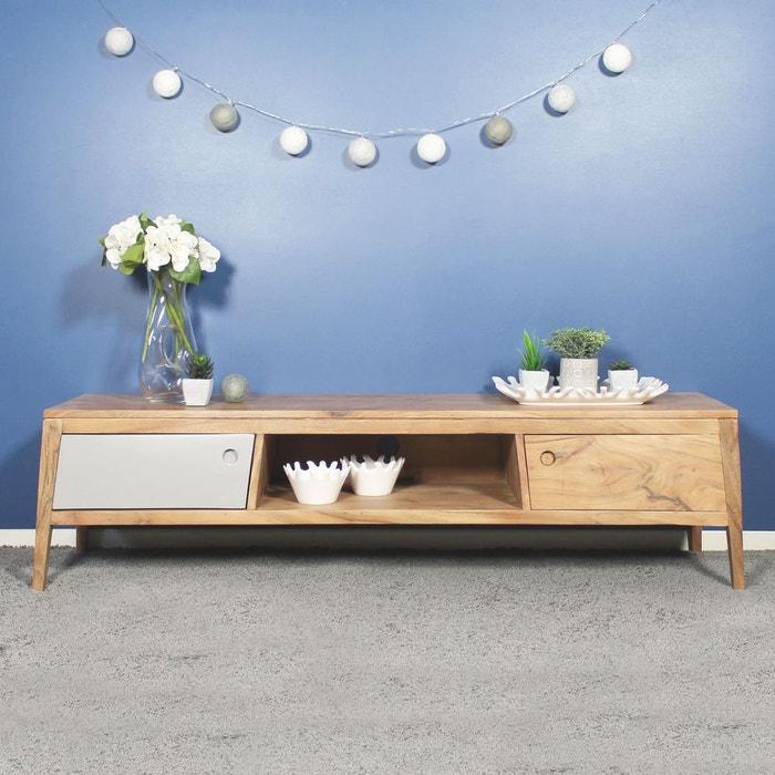 meuble tv en bois design bt22 bois made in meubles la redoute. Black Bedroom Furniture Sets. Home Design Ideas