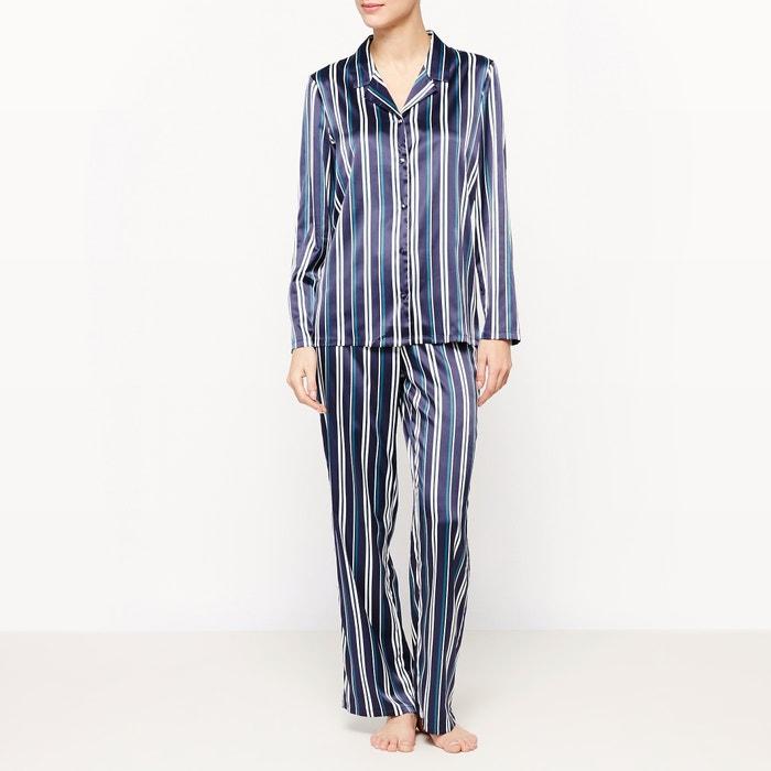 afbeelding 2-delige gestreepte pyjama met lange mouwen La Redoute Collections