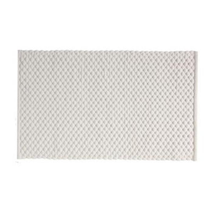 Grand tapis de bain design couleur ivoire 60 100cm - Redoute tapis de bain ...