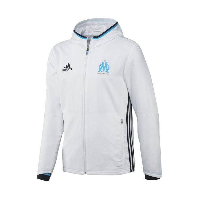 Veste capuche om blanc junior blanc adidas la redoute - Coupe vent adidas junior ...