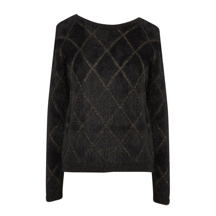 Pullover aus Flauschgarn, hinten offen
