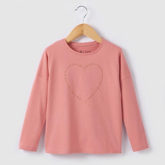 Image T-shirt met lange mouwen en hartenprint 3-12 jr R essentiel