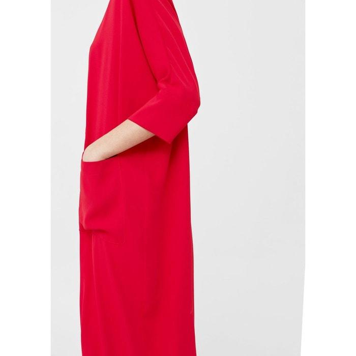 robe droite poches rouge mango la redoute. Black Bedroom Furniture Sets. Home Design Ideas
