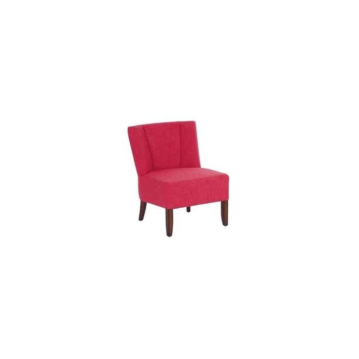 fauteuil crapaud tissu rose et pieds c dre 58x59x69cm croc. Black Bedroom Furniture Sets. Home Design Ideas