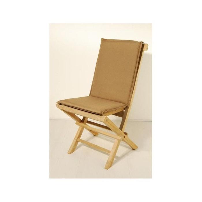 Coussin de chaise de jardin imperméable bronze 90x3x41cm acrylique ...