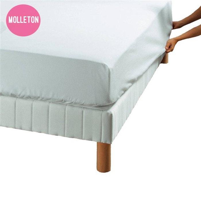 drap housse prot ge matelas molleton blanc coton 220gr m blanc essix la redoute. Black Bedroom Furniture Sets. Home Design Ideas