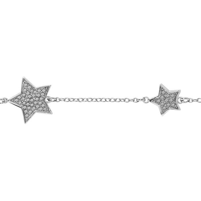 Vente Pas Cher Grande Vente Bracelet longueur réglable: 16 à 18 cm etoiles oxyde de zirconium argent 925 couleur unique So Chic Bijoux | La Redoute Offre Magasin Rabais 00kTvqU