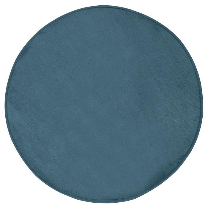tapis rond velours diam 90 cm orage gris fonc. Black Bedroom Furniture Sets. Home Design Ideas