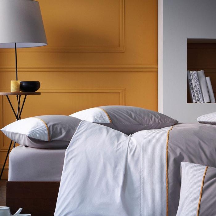 housse de couette imprim e en percale blanc safran blanc cerise la redoute. Black Bedroom Furniture Sets. Home Design Ideas