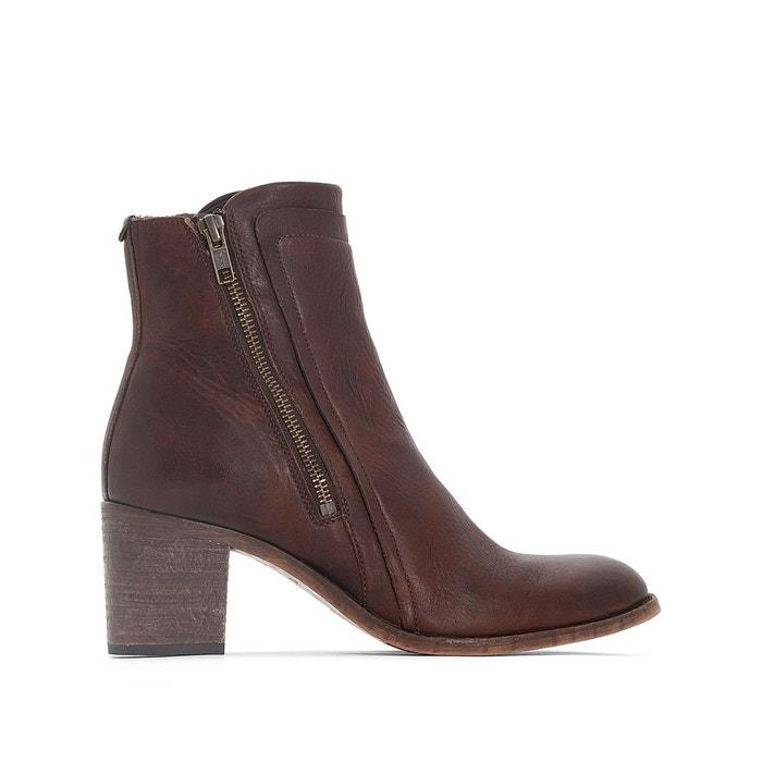 Boots cuir jessy marron foncé Kickers En Ligne Pas Cher En Ligne Payer Avec Paypal réal zi3d0I94P