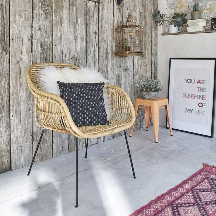 chaise en rotin et m tal rotin bois dessus bois dessous la redoute. Black Bedroom Furniture Sets. Home Design Ideas