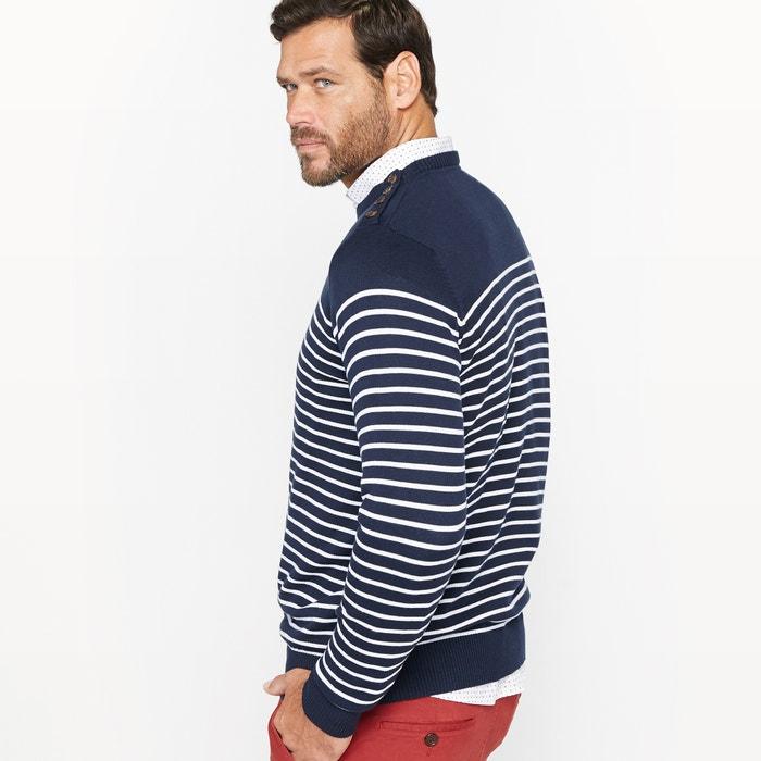 Image Striped Buttoned Shoulder Jumper/Sweater CASTALUNA FOR MEN
