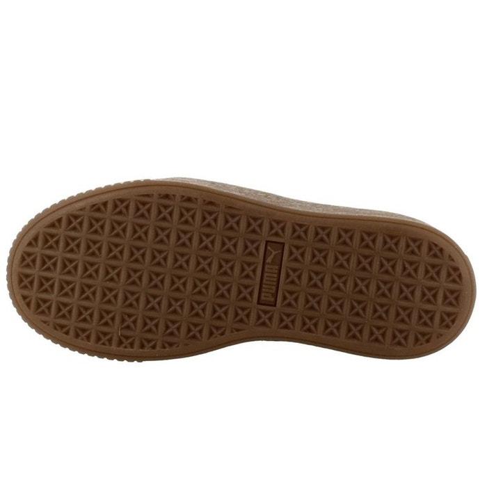Baskets PLATFORM basses PUMA BASKET cuir UWzqq7T
