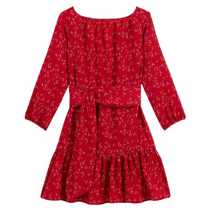 Kleid Mit U Boot Ausschnitt Und 3 4 Armeln Allover Bedruckt Bedruckt Vanessa Seward X La Redoute Collections La Redoute