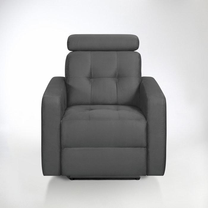 afbeelding Elektrische relax zetel Julema in microvezel stof La Redoute Interieurs