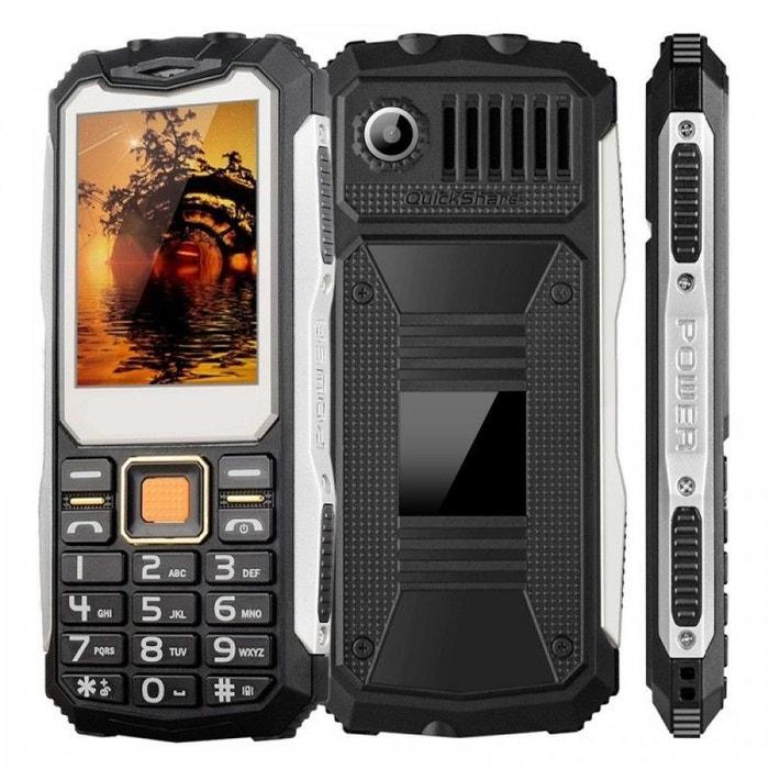 t l phone antichoc double sim chantier 4 en 1 etanche portable solide noir yonis la redoute. Black Bedroom Furniture Sets. Home Design Ideas