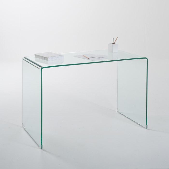 Bureau console joan in gehard glas transparant glas la redoute interieurs l - Console bureau la redoute ...
