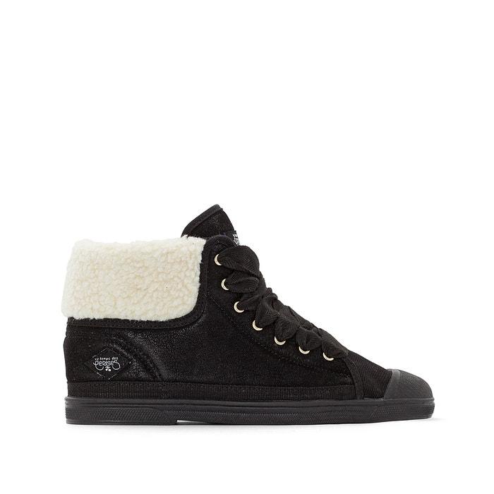 c898776f0d68 Basic 03 mountain lace-up high top trainers black LE TEMPS DES CERISES