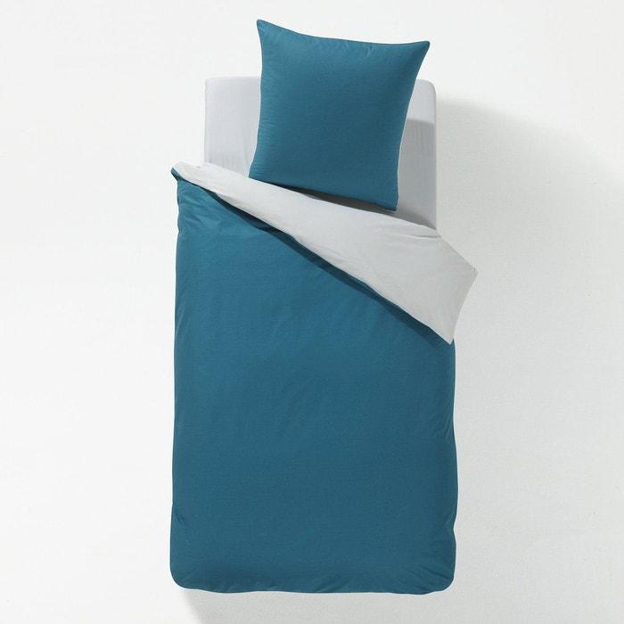 housse de couette bicolore enfant mini bicolore gris. Black Bedroom Furniture Sets. Home Design Ideas