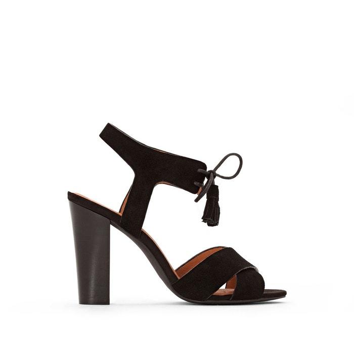Sandales cuir liens pompons  La Redoute Collections image 0