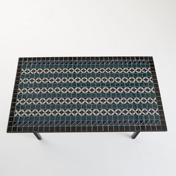 afbeelding Tafel met artisaneel keramisch tafelblad voor 6 personen, Quérida La Redoute Interieurs