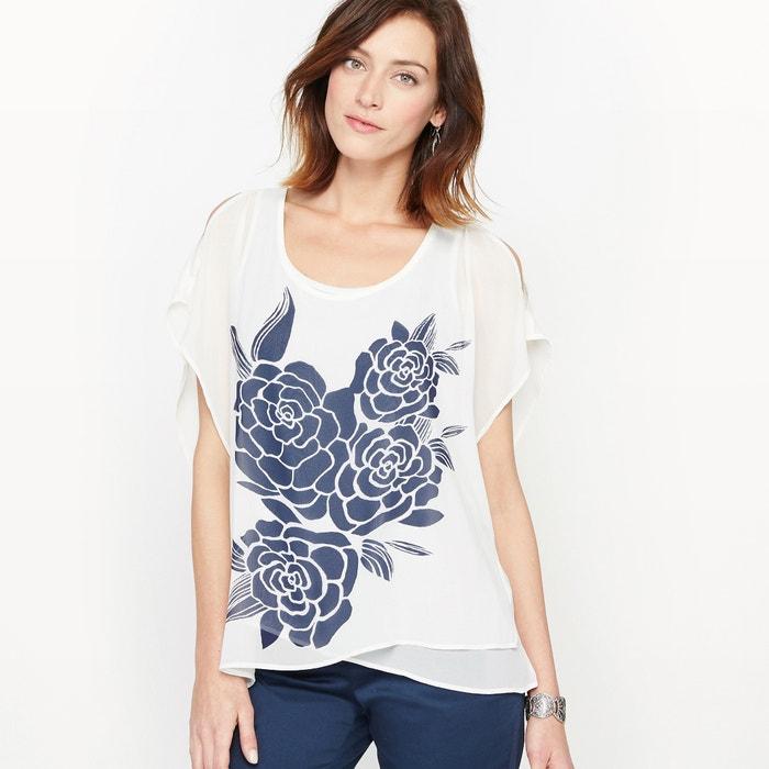 afbeelding 2 in 1 blouse, asymmetrische panden ANNE WEYBURN