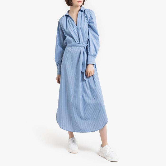 publier des informations sur dernier nouvelle collection Robe rayée longue manches longues